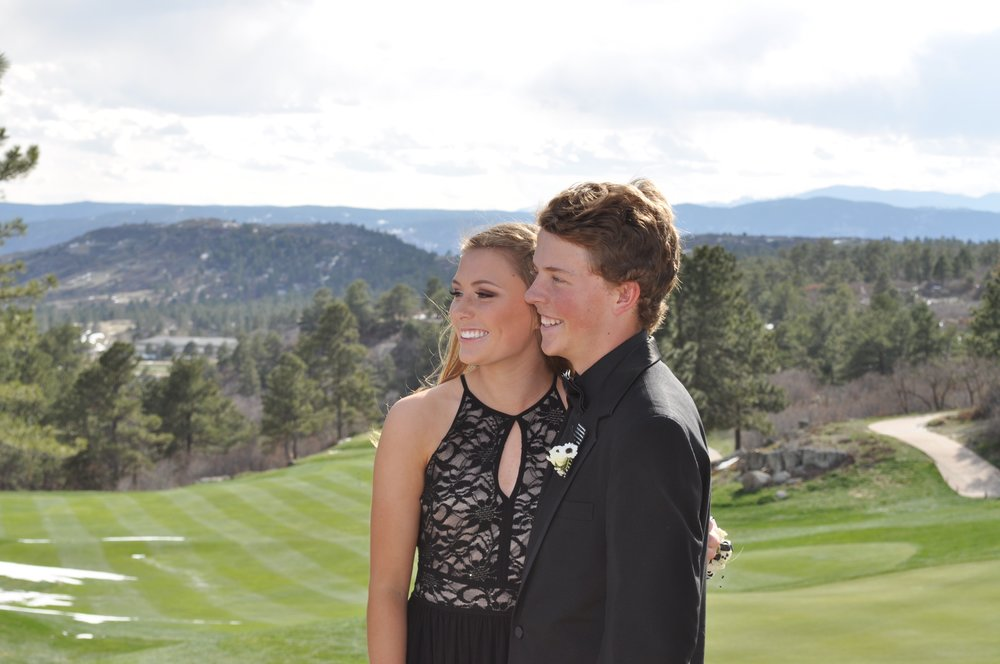 My friends Abby Howk and Cameron Mahoney pose for a picture at their junior prom.