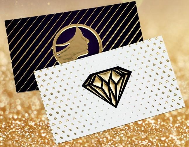 raised foil business cards goldfoiljpg - Gold Foil Business Cards