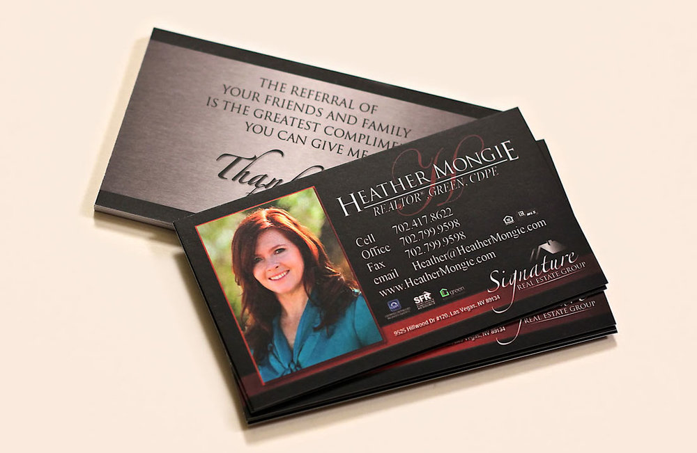 Standard Silk Business Cards — Designit4free.com