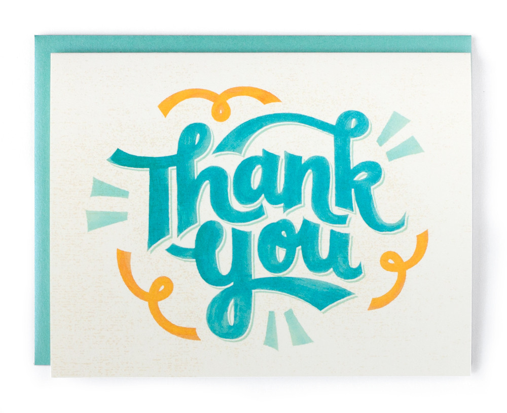 Thank You Greeting Card Lauri Johnston