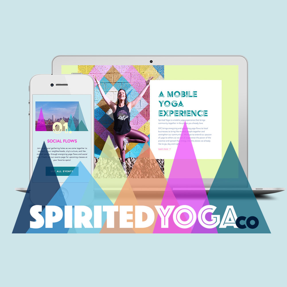 SPIRITED YOGA - Branding + logo + website design