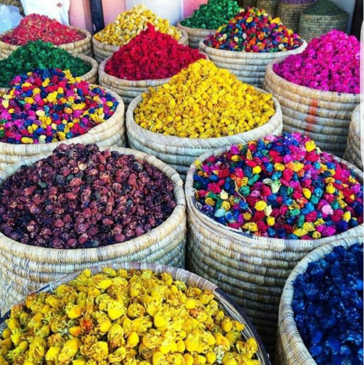 Photo Courtesy IG: @_JMarieTravels. Souk in Old City, Marrakech.
