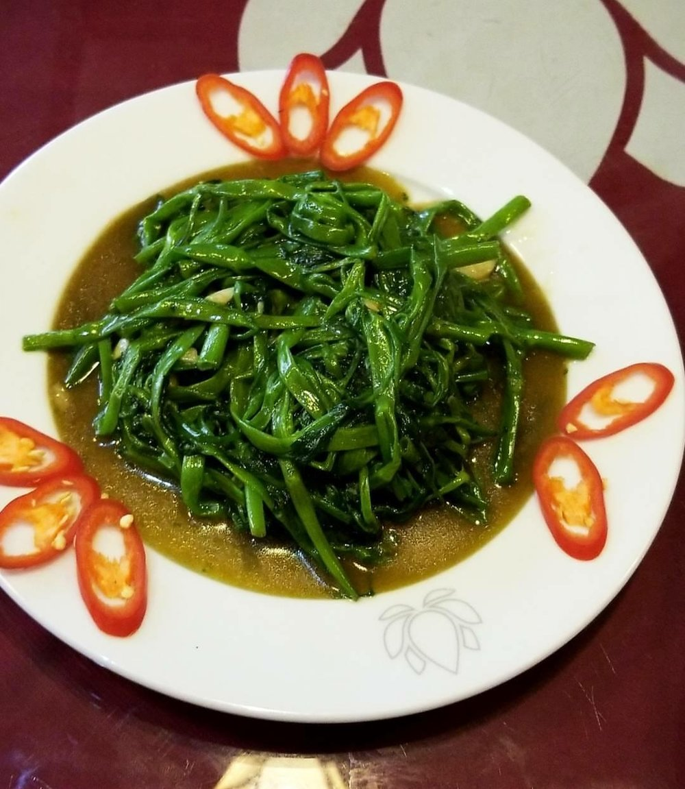 One of my FAVE Vietnamese dishes--water spinach!