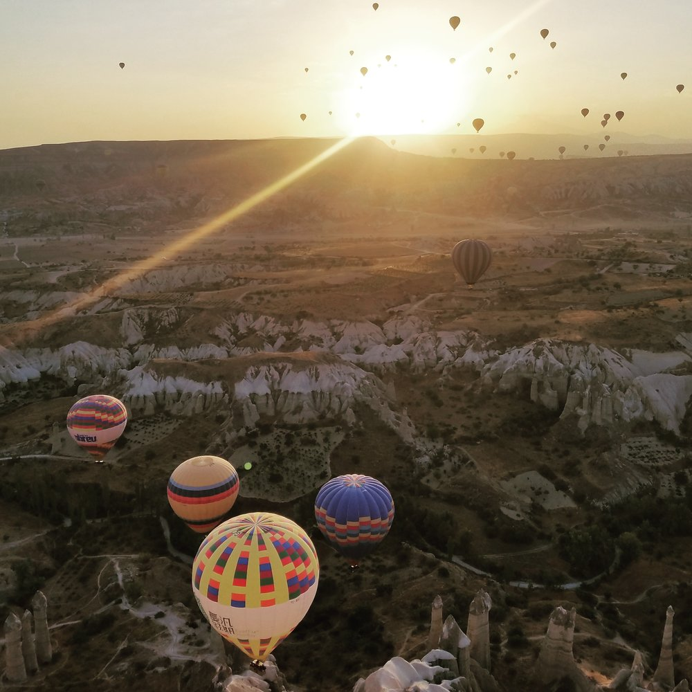Sunrise from 4,000 feet in Goreme, Turkey. Photo Courtesy J. Thurston