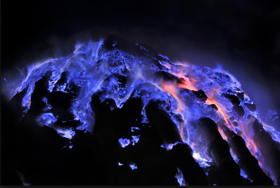 Mt. Ijen, Indonesia. Photo Courtesy National Geographic.