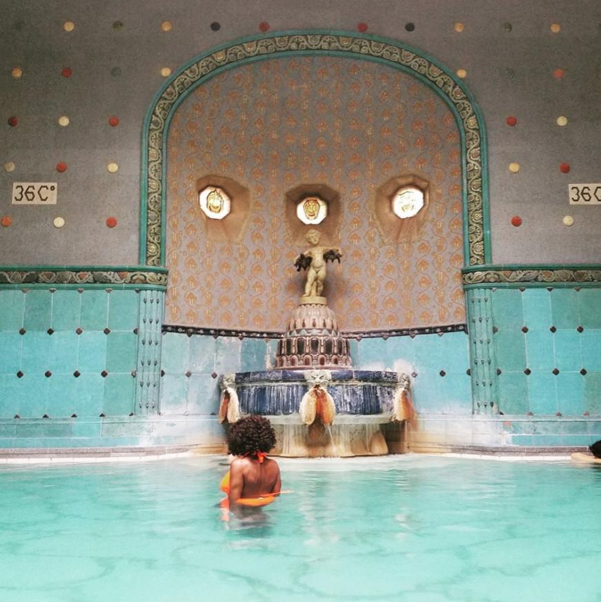 Gellért Spa. Budapest, Hungary.