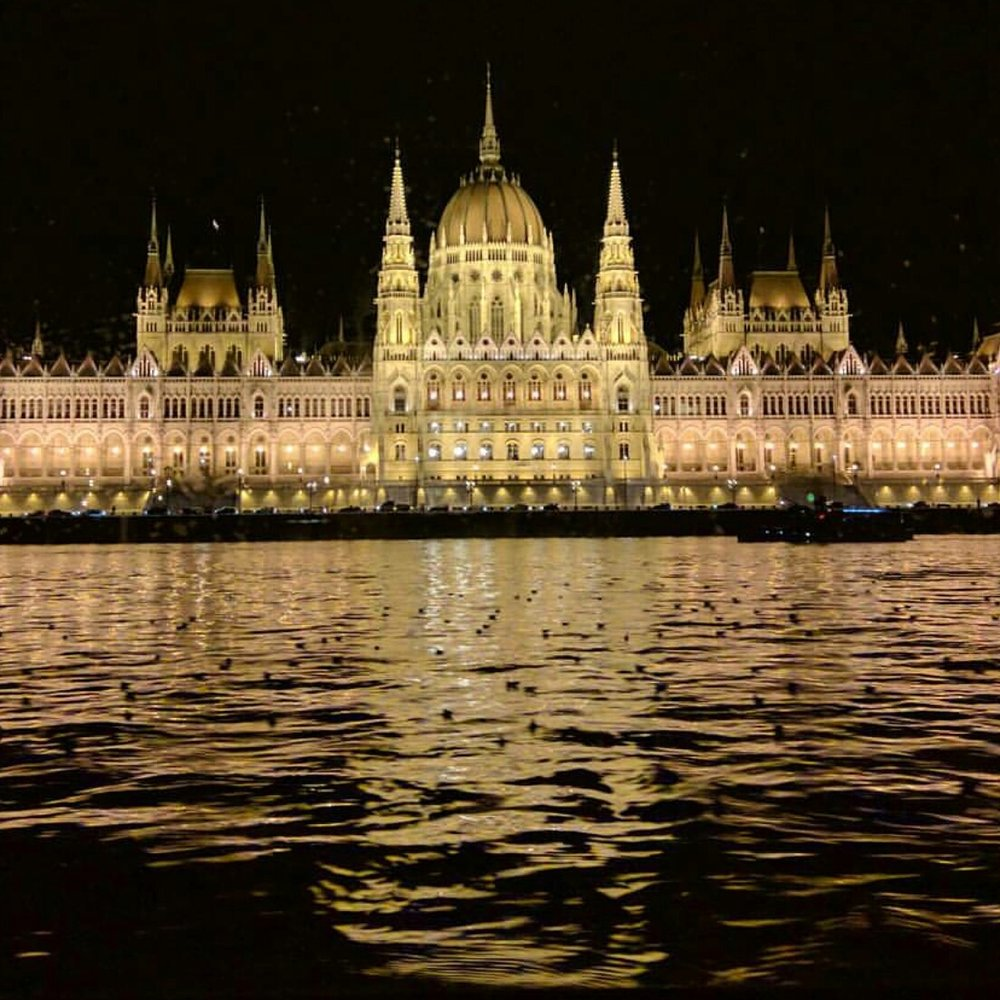 Parliament by Night. Budapest, Hungary.