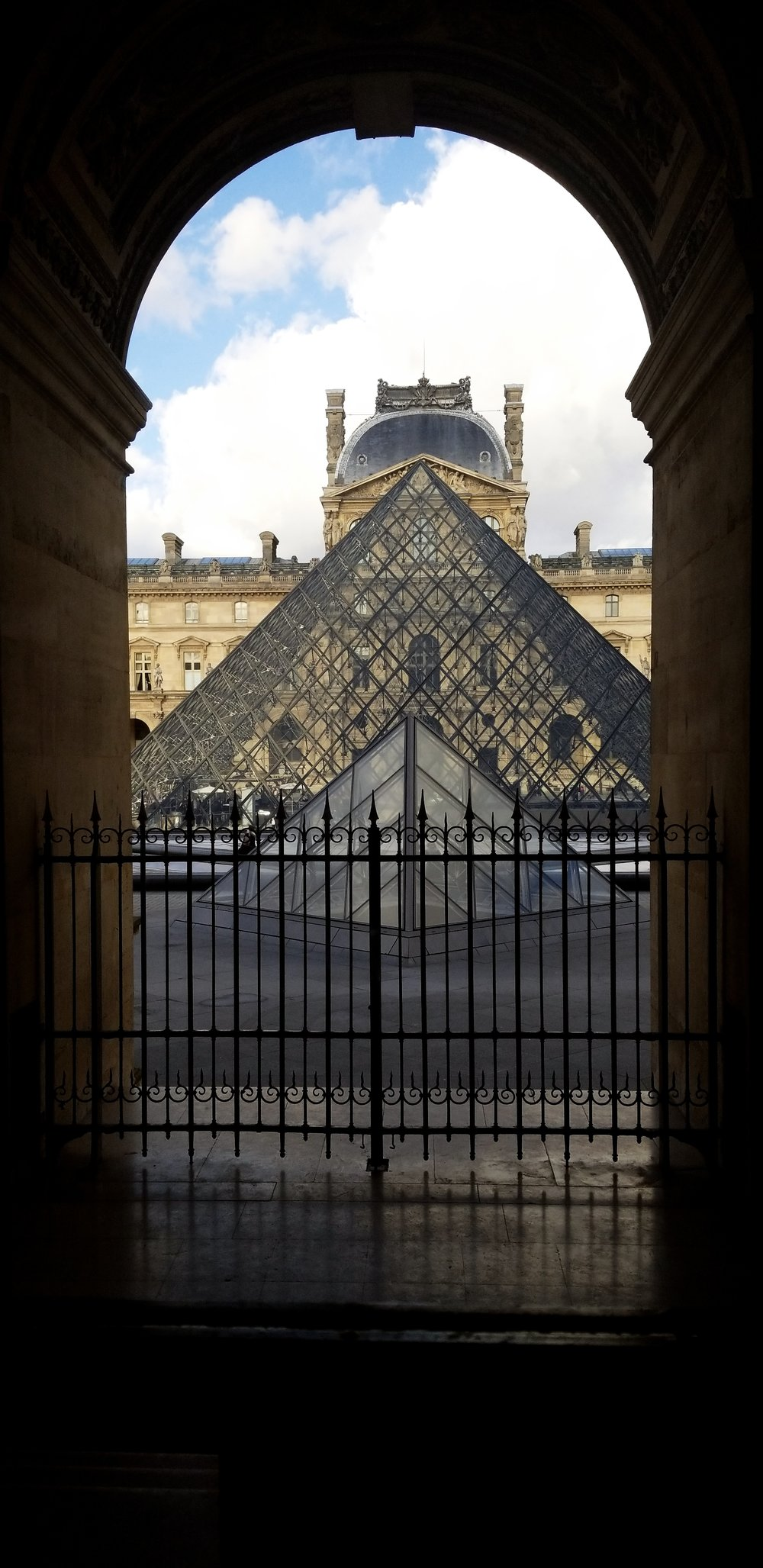 The Louvre. Photo by J. Thurston