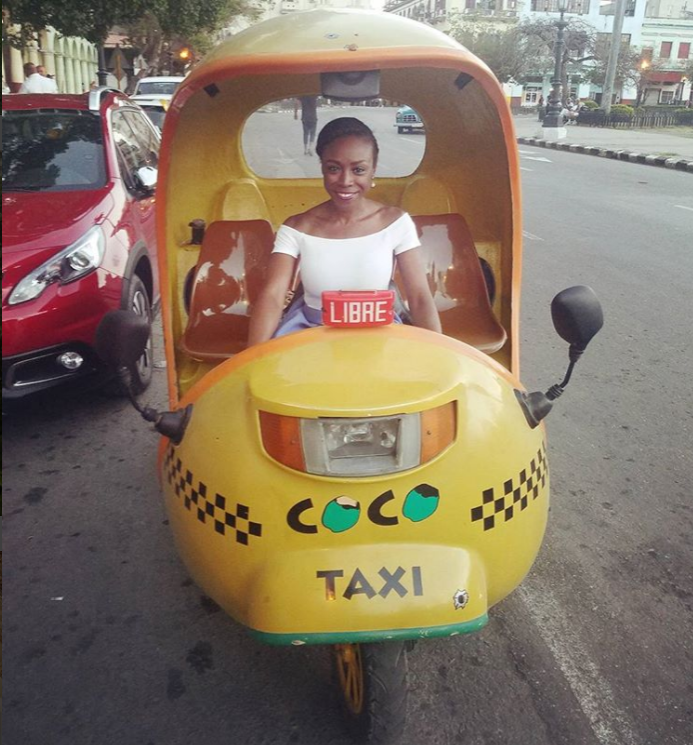 A Coco Taxi in Cuba. Photo Credit, J. Thurston