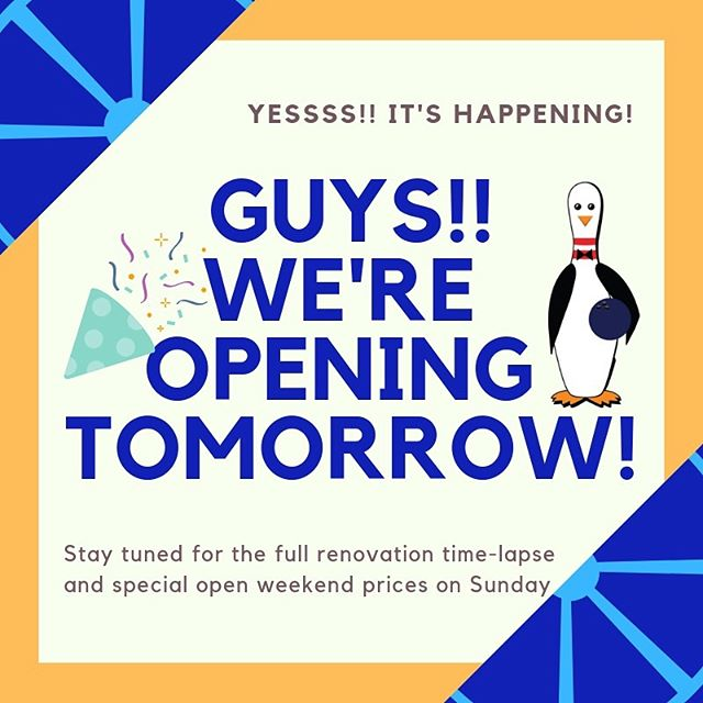 Oh my goodness!! It's here, it's here!! We are open to the public tomorrow from 10, then we have got a really special 'open weekend' celebration happening Sunday!! #staytuned #soexciting #tenpinbowlingaustralia #syntheticlanes #renovations #bowlingaustralia #pitenpin #pitenpinreno