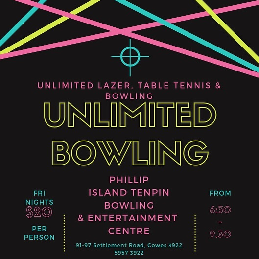 TGIF!! Woop 🙌🏻 #unlimitedpitenpin #pitenpin #tgif #bowling #lazer #tabletennis #getthecrew