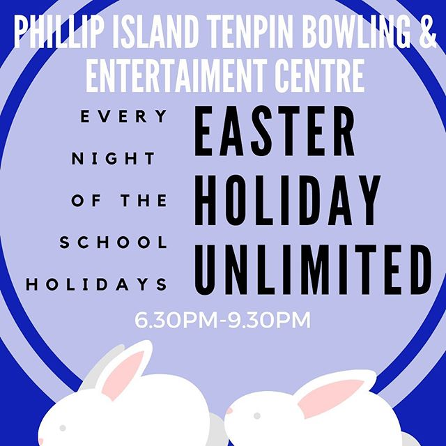 We are open every day over Easter, and don't forget our Unlimited special @ $20pp 6.30-9.30pm for unlimited lazer, table tennis & bowling 🙌🏻🏓🎳🔫 #pitenpin #phillipisland #lovephillipisland #eatallthechocolate #easterbunnyiscoming #phillipislandholiday #melbourne #melbournedaytrip #whatsonforkids #victoriaaustralia