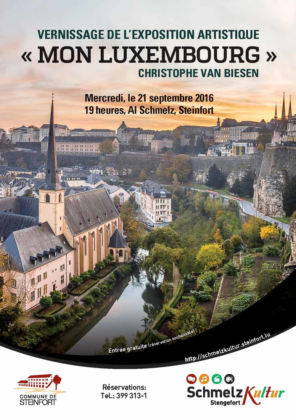 My Luxembourg Exhibition by Christophe Van Biesen at the Centre Culturel Al Schmelz in Steinfort, Luxembourg
