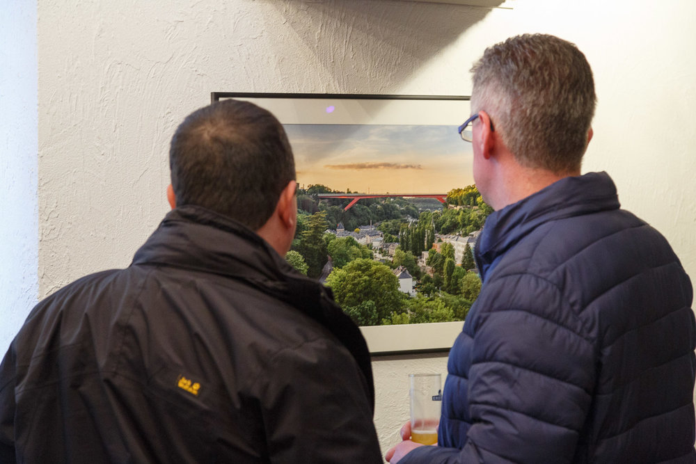 First solo exhibition by Luxembourg Landscape Photographer Christophe Van Biesen at the Brasserie Beim Siggy in Luxembourg City - Exhibition at Beim Siggy - Photography by Frederic David