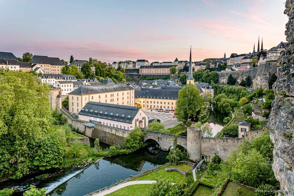 Summer in Luxembourg - Summer view over Luxembourg's Alzette river and Grund neighbourhood - Natural Beauty