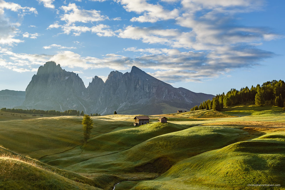 Dolomites - Italy - Sunrise over the Alpe di Siusi in Italy's Dolomites - Soft Dawn