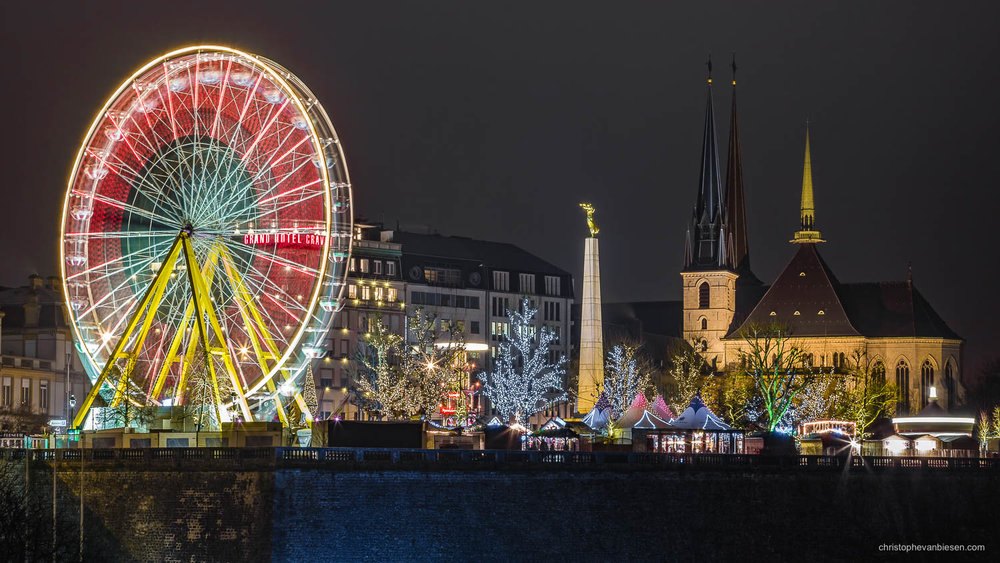 Christmas in Luxembourg - Christmas market in Luxembourg City on place de la constitution - Christmas Plaza