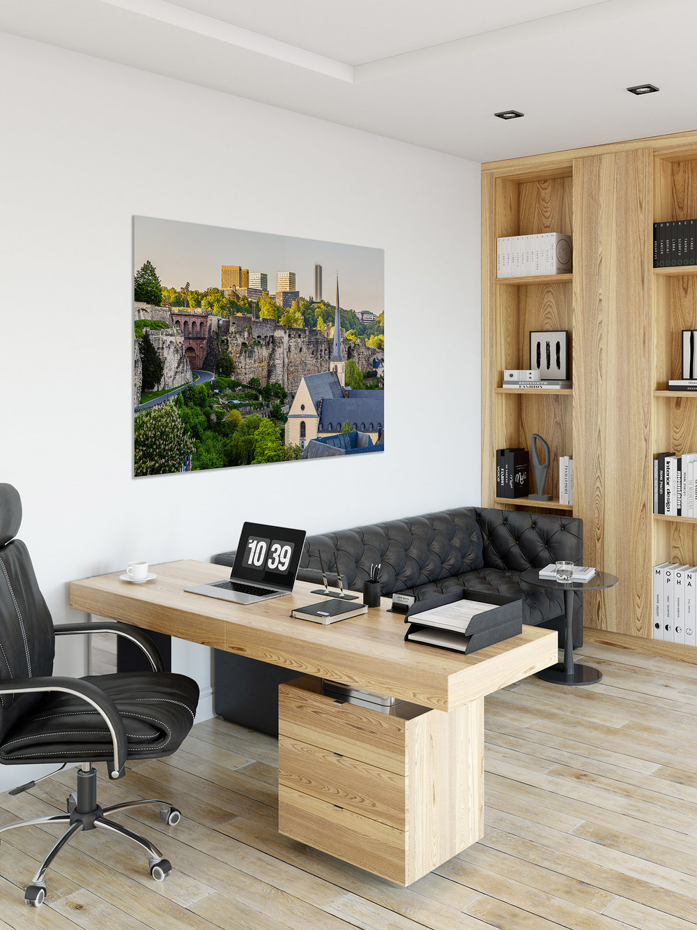 Luxembourg Acrylic Glass Print - Office - Glossy Acrylic Glass Print on Black Aluminium - 120x80cm - Eras United - Photography by Christophe Van Biesen