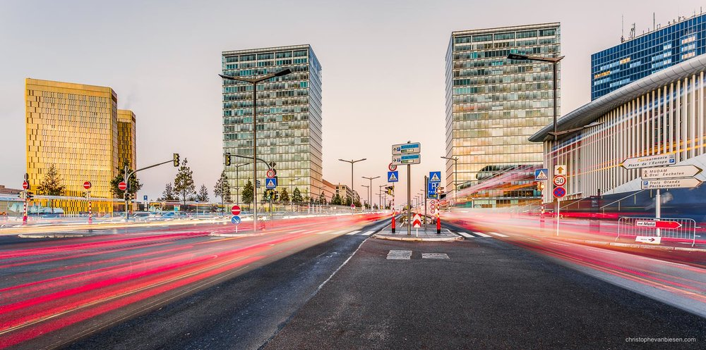 Top 25 photos made in Luxembourg - Rush hour in Luxembourg's Kirchberg