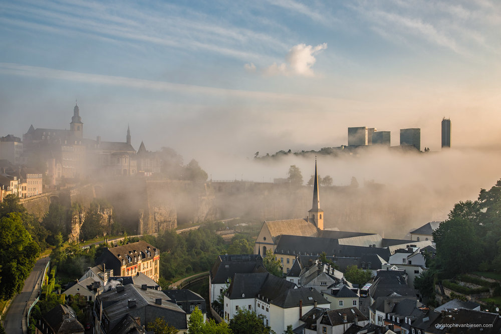 Top 25 photos made in Luxembourg - Sunrise in Luxembourg City