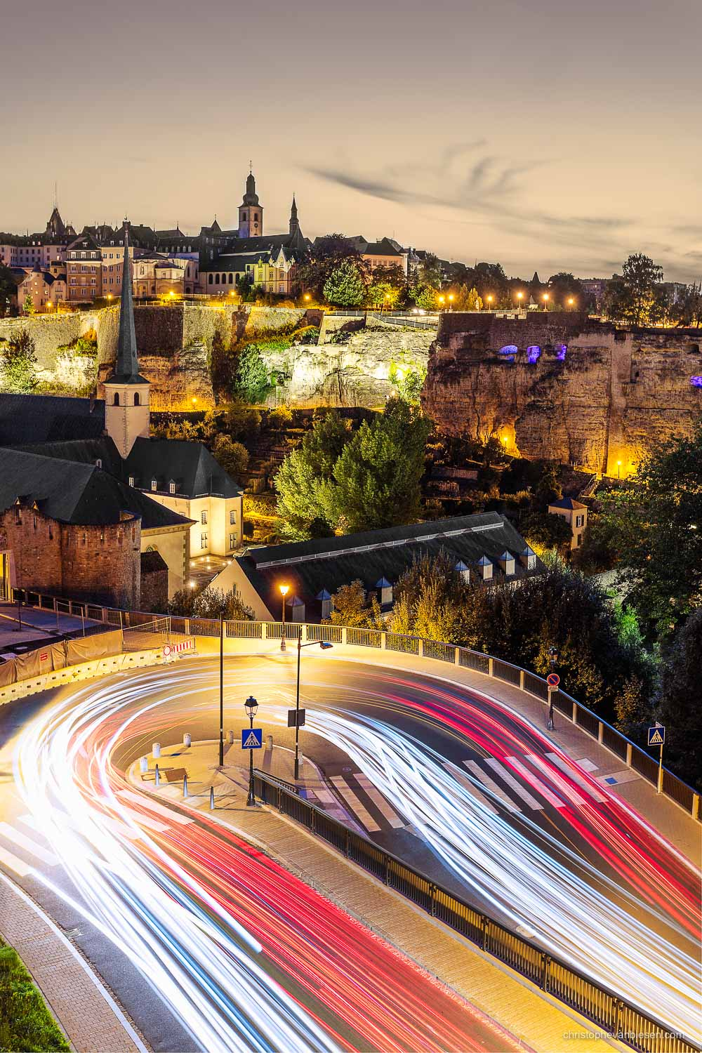 Top 25 photos made in Luxembourg - Luxembourg City's Grund at night