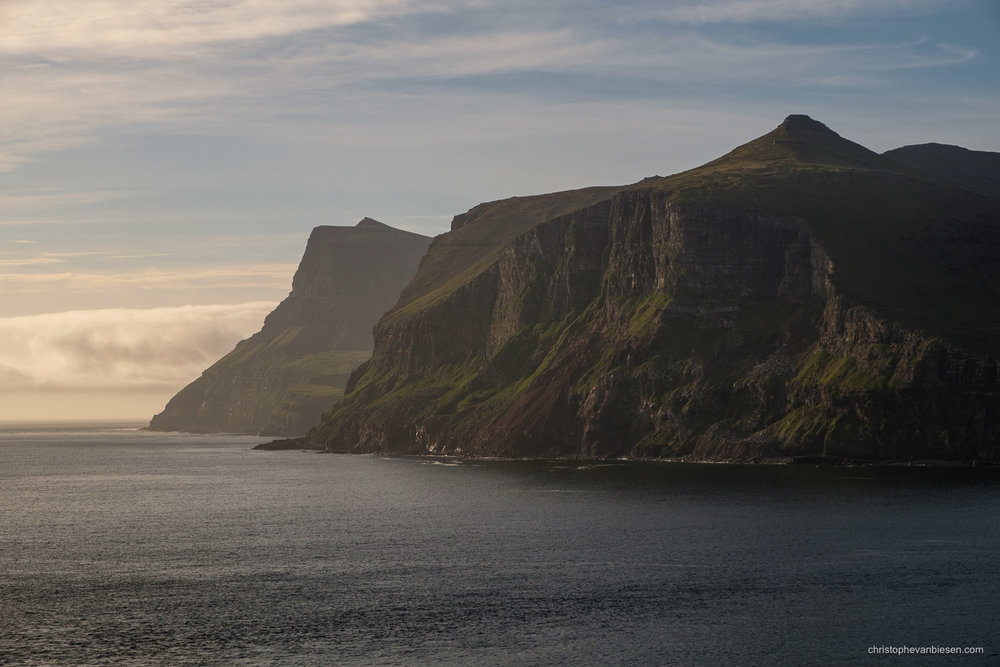 Faroe Islands - Denmark - Cliffs on the island of Vagar in the Faroe Islands - Southern Cliffs