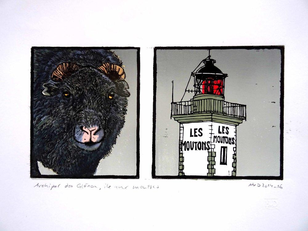 148 - Ile aux Moutons, 3-plat elino 15x30 cm,100 €