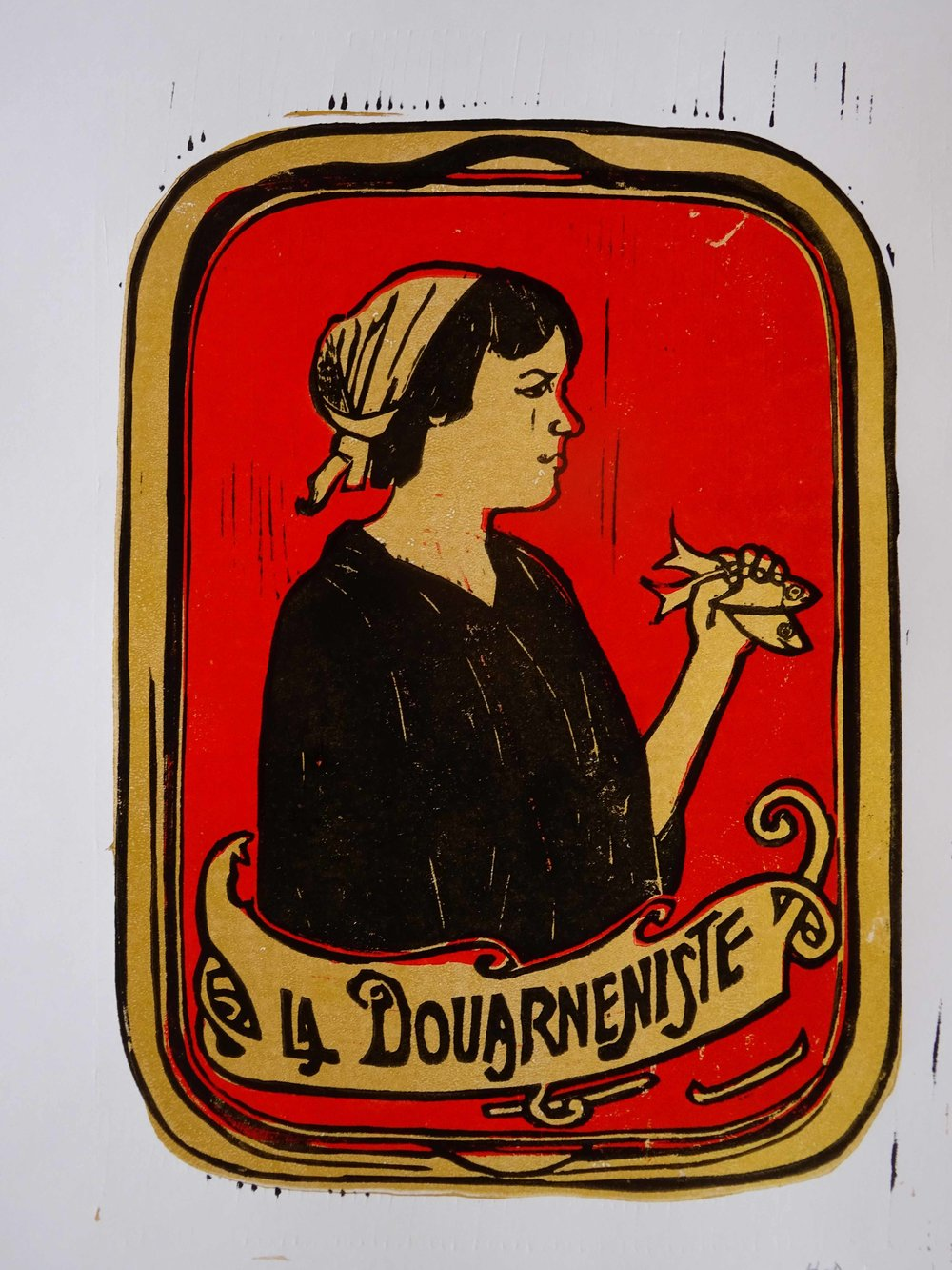 86 - La Douarneniste 2, 3-plate lino 30x21 cm, 60 €