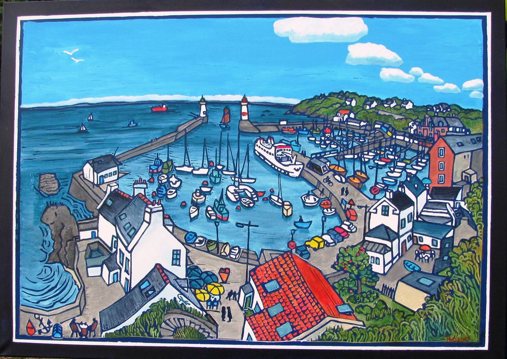 Port Tudy (Groix) acrylic 100x140 cm
