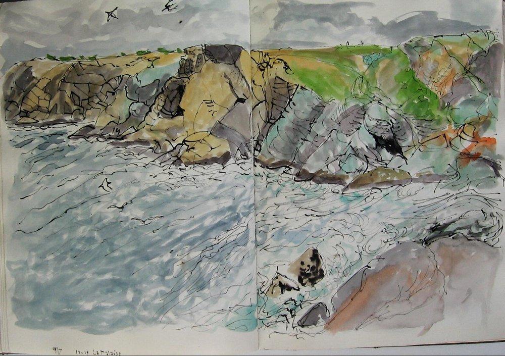 Groix, La falaise