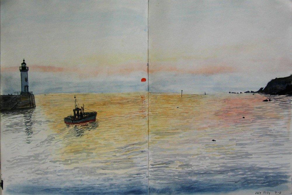Groix, Port Tudy 1992