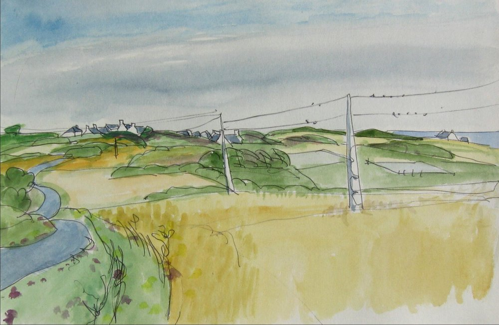 Groix, fields