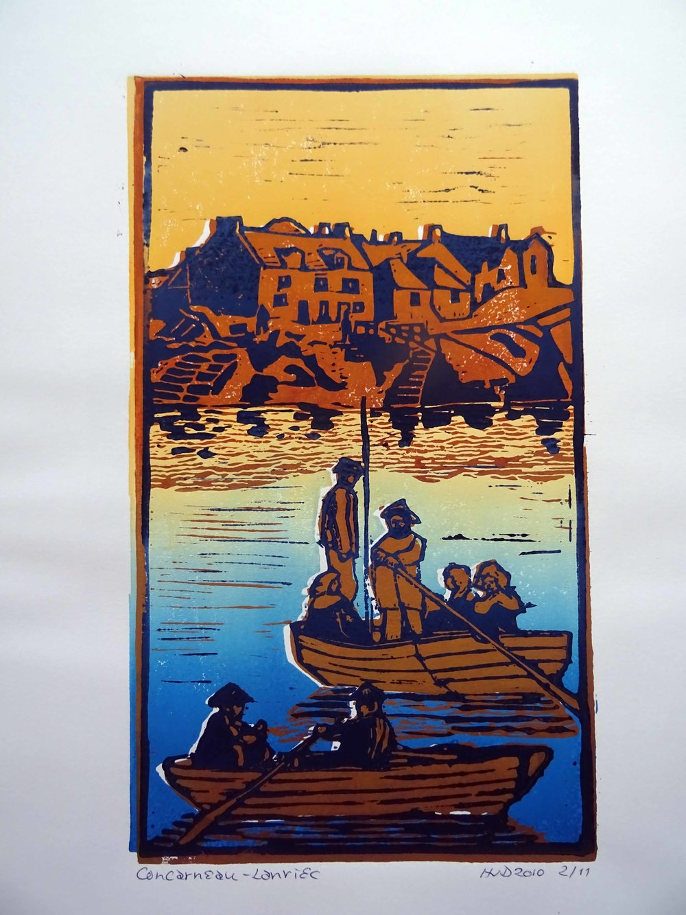70 - Lanriec, 3-plate lino 26,5x15,5 cm, 60 €