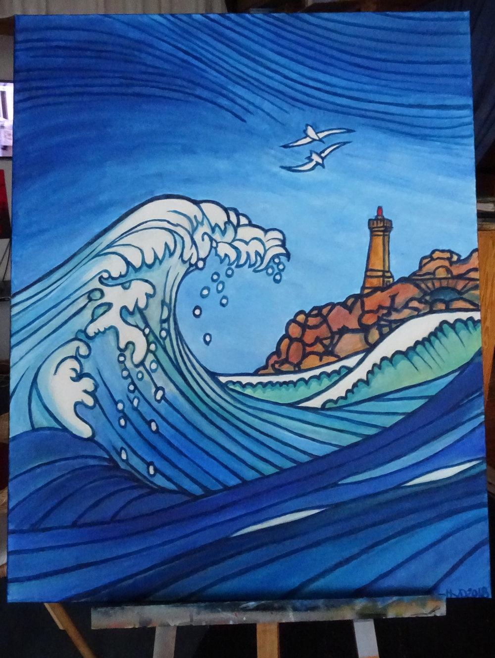 Ploumanac'h, acrylic on canvas 100 x 80 cm, 500 €
