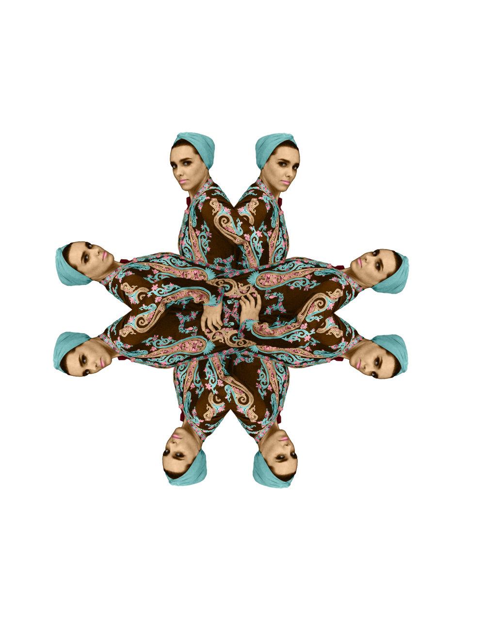 Badawyah fy Parees (A Bedouin in Paris) _1_2011_Digitalprint on Vinyl_200cmx200cm.jpg