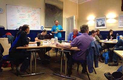 Facilitating a BMC talent development workshop -