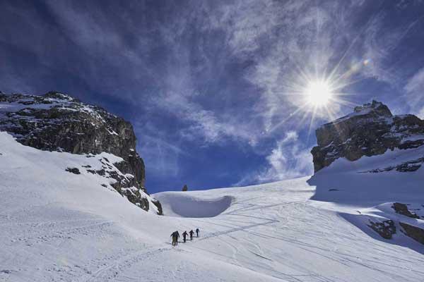 Seeking fresh tracks above Engelberg -