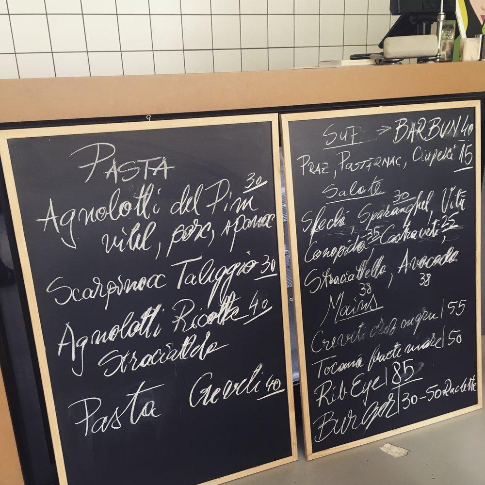 frank dessert bar menu