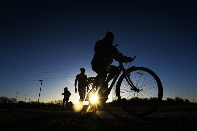 The NHS says running, walking or cycling is vital for physical health and recommends two-and-a-half hours of exercise over a seven-day period. Picture: ANTONY KELLY