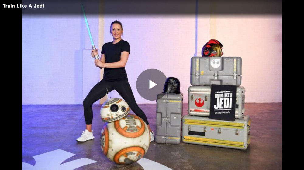Click image to see how Olympic gold medalist Jade Jones guides you through 12 special moves which will help you master the ways of the Jedi!