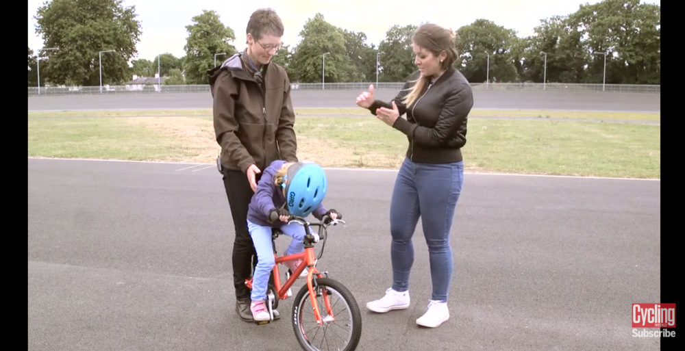 Click image to see the video of Isla showing how to best teach children how to ride a bike