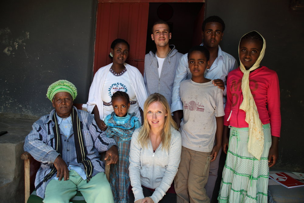 Paulina and Serdar in Awra Amba, Northern Ethiopia, where Lyfta's first immersive story was made (2011).