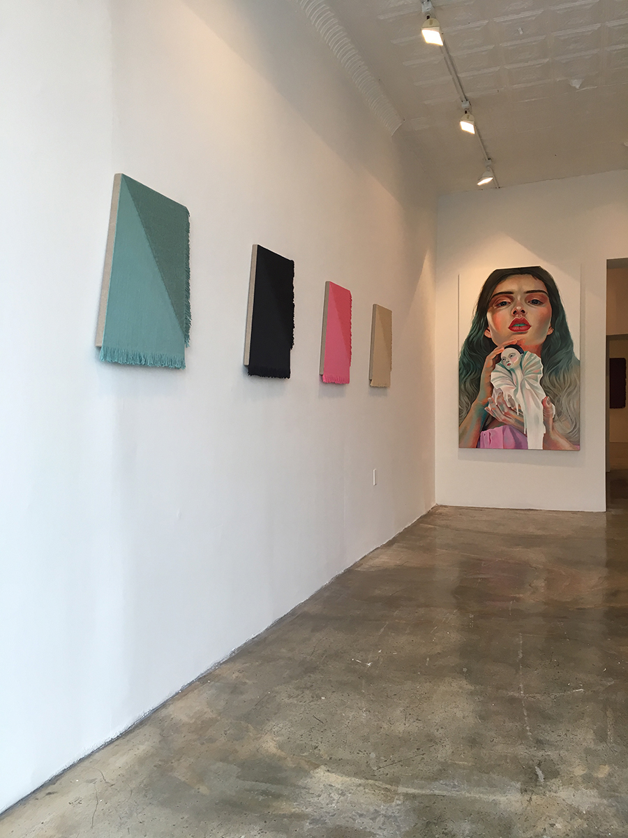 Installation view, hands on