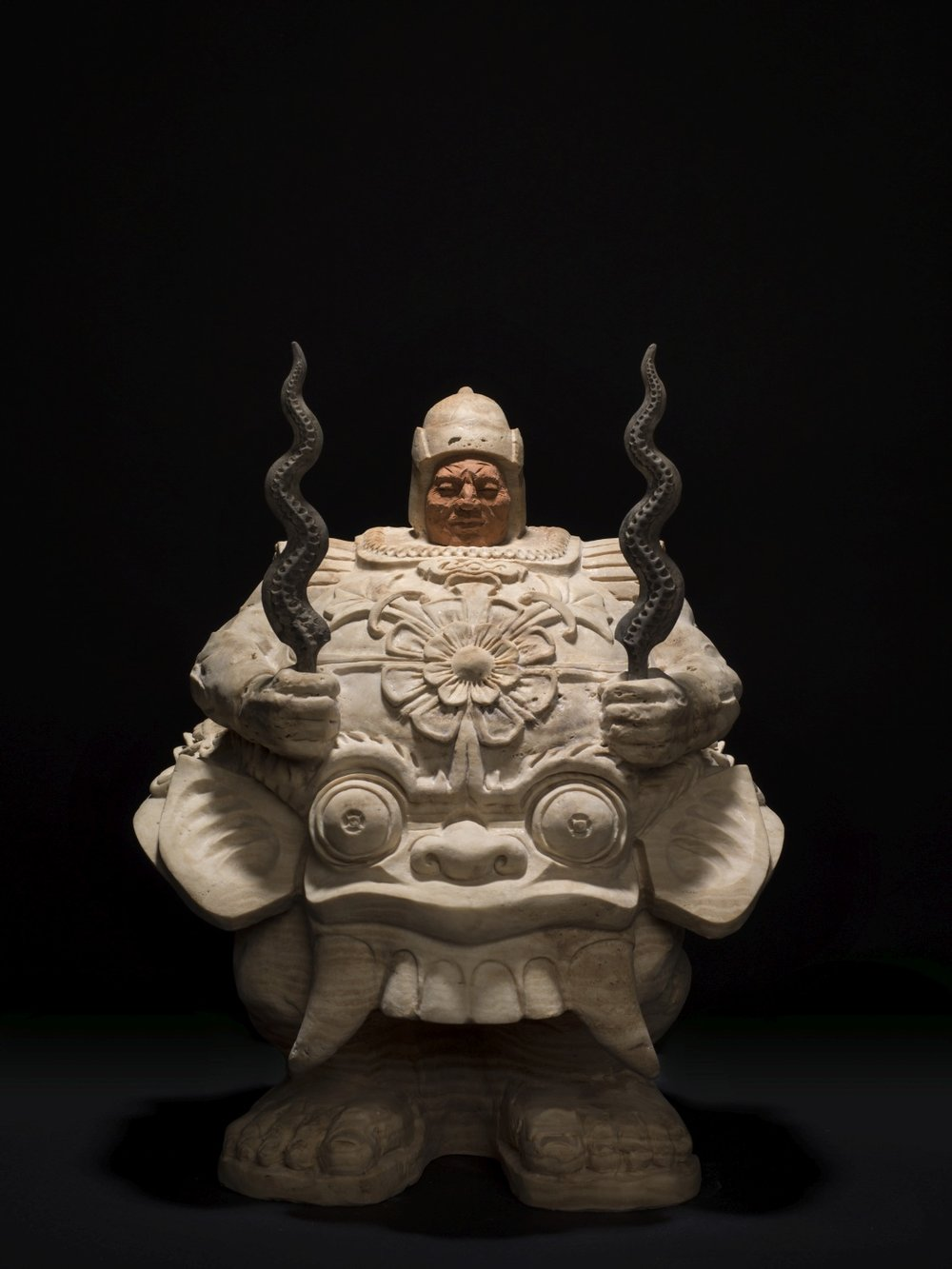 Matteo Pugliese, Balinese Guardian, 2017, Marble, 17.71 x 15 x 11.41 inches
