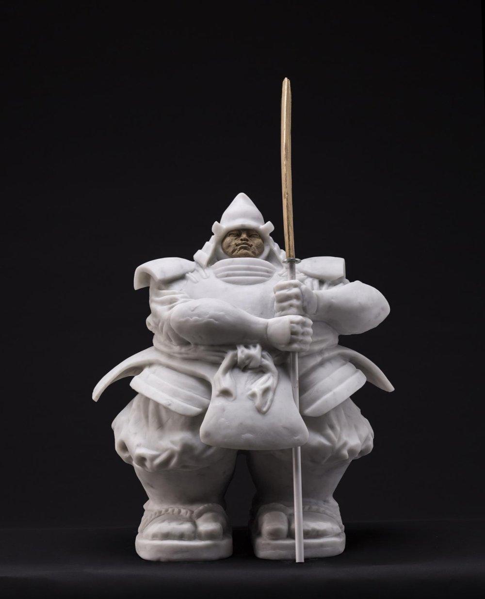 Matteo Pugliese,  Samurai Guardian VIII (Carrara marble)