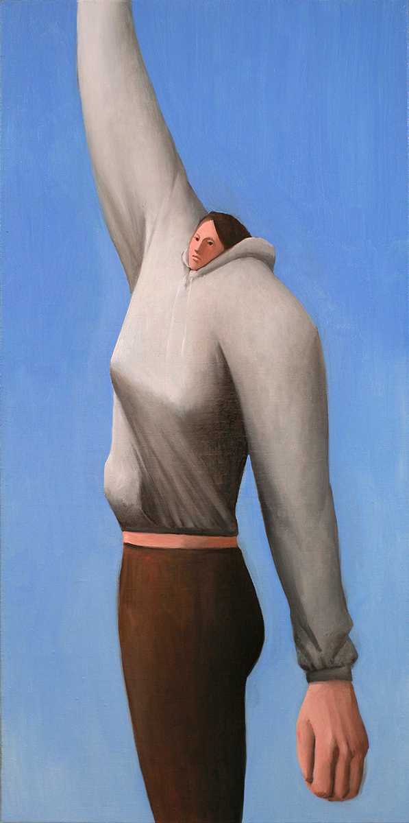 Tony Toscani, Extension, 2018, Oil on linen, 28 x 14 inches