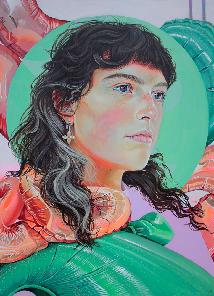 Martine Johanna, Sink in Sound, 2018, Acrylic on panel, 27.5 x 19.5 inches