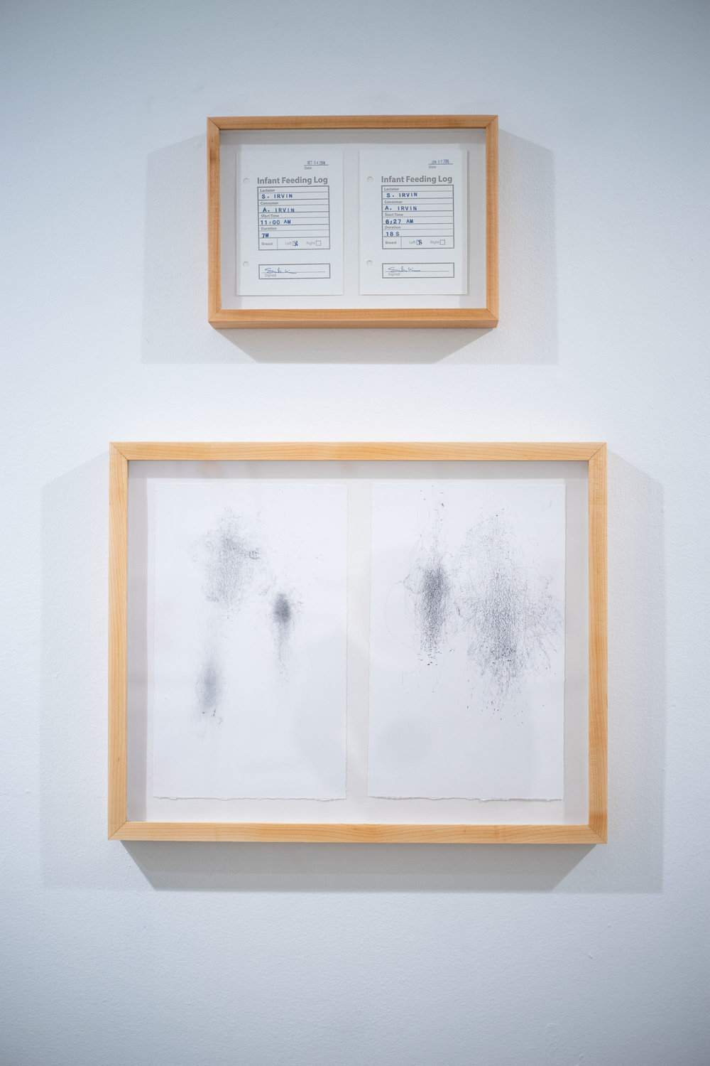 Installation view of Sarah Irvin's prints
