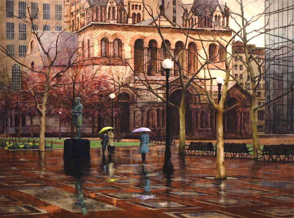 Rainy day in Boston 30x40 oil on linen $14,500.JPG