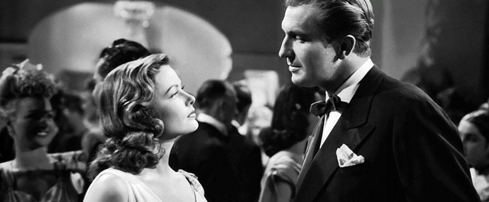 Vincent Price and Gene Tierney in Laura (1944).